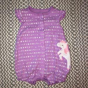 Baby Girl Unicorn Romper 🦄